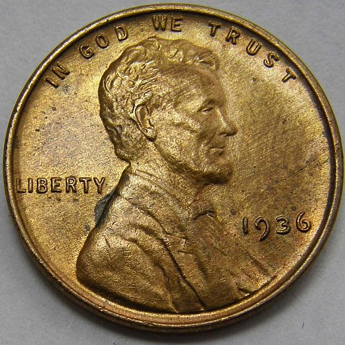 1936 P Lincoln Wheat Cent #2