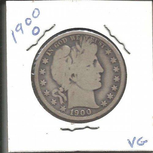 1900 O  BARBER HALF DOLLAR