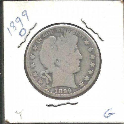 1899 O  BARBER HALF DOLLAR