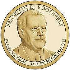 2014  P &  D   -  F. D. ROOSEVELT GOLDEN DOLLAR'S