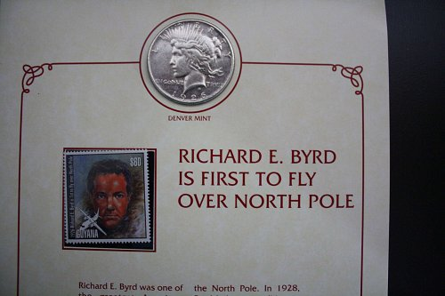 "RICHARD E. BYRD COIN AND STAMP PANEL ""1926"""