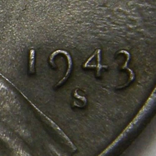 1943 S Lincoln Wheat Cent #1  RPM-005 S/S West