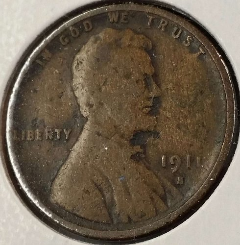 1911 S Lincoln Wheat Cent - Good