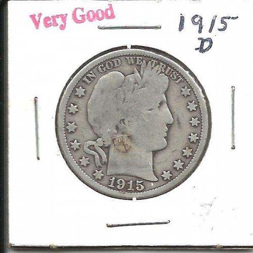 1915 D  BARBER HALF DOLLAR