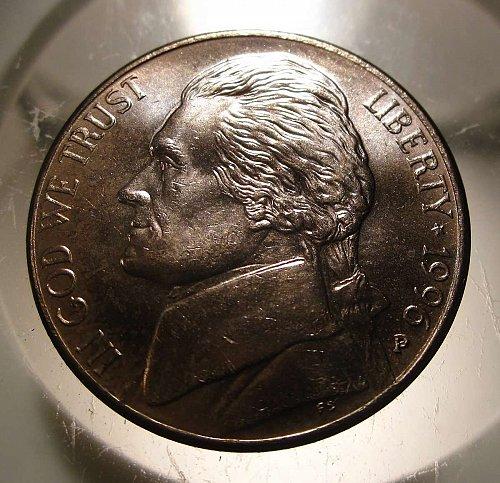 1996 P Jefferson Nickel