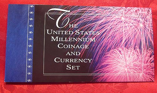 2000 US Mint, Millennium Coinage & Currency, 1999 Dollar Bills ONLY
