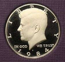 1984 S  PROOF KENNEDY HALF DOLLAR