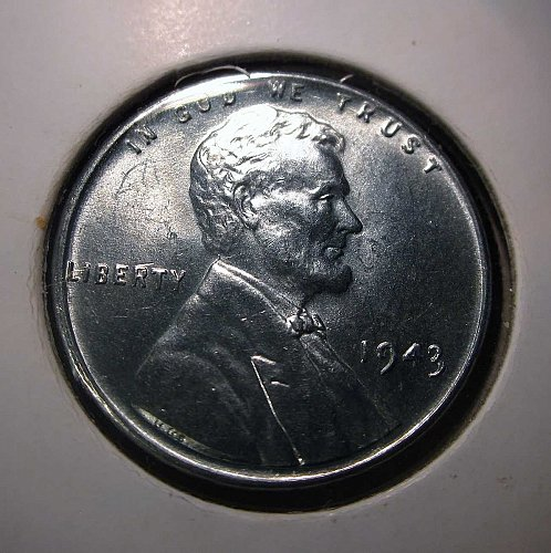 1943 P Lincoln Wheat Cent Small Cents: Steel Cent