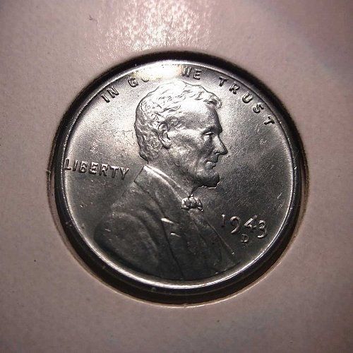 1943 D Lincoln Wheat Cent Small Cents: Steel Cent