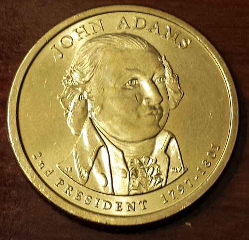 2007-P John Adams Presidential (Golden) Dollar (5265)