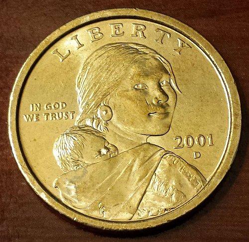 2001-D Sacagawea Dollar (Golden) (5267)