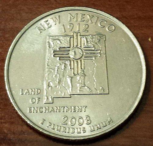 2008-P New Mexico State Quarter (5269)