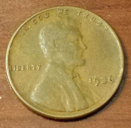 1936 Lincoln Wheat Cent (5277)