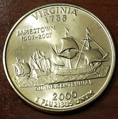 2000-P Virginia State Quarter - From US Mint Bag! (5288)