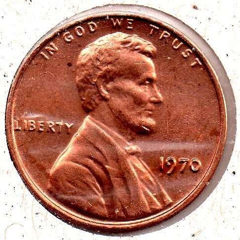 1970p Lincoln Memorial Penny - #4