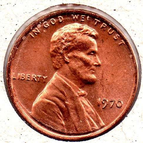 1970p Lincoln Memorial Penny - #5