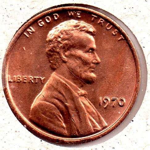 1970p Lincoln Memorial Penny - #6