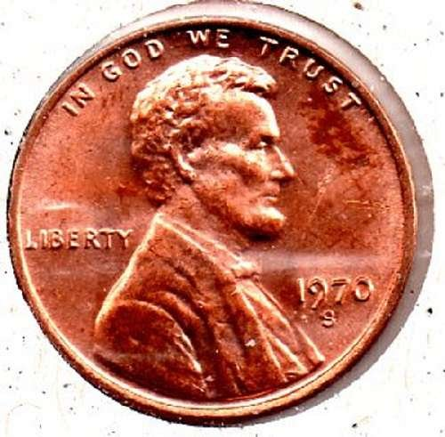 1970s Lincoln Memorial Penny - Low 7- #4
