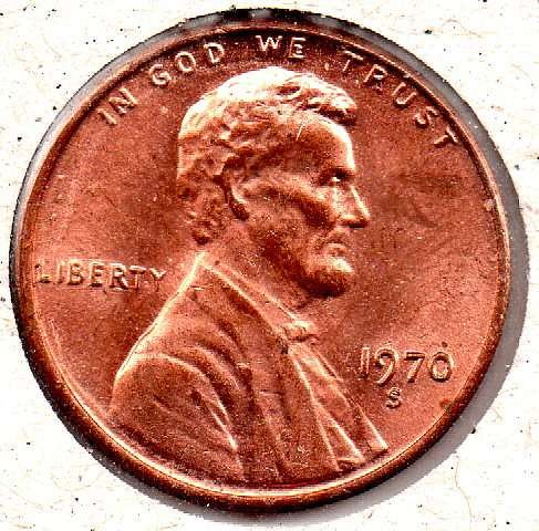 1970s Lincoln Memorial Penny - Low 7 - #5