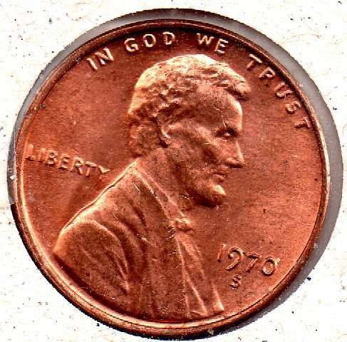 1970s Lincoln Memorial Penny - Low 7 - #6