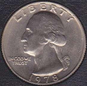 1978 P Washington Quarter
