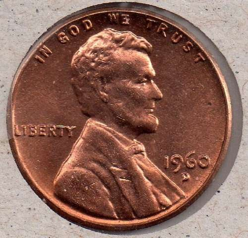 1960D Lincoln Memorial Penny - DS - #6