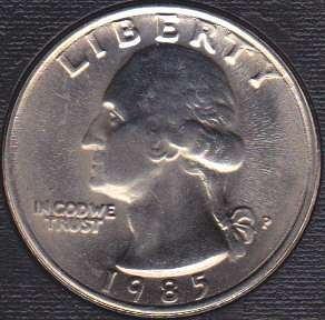 1985 P Washington Quarter