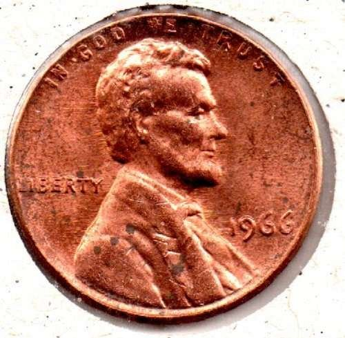 1966P Lincoln Memorial Penny ??DS?? #5