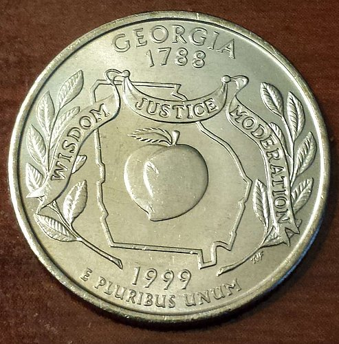 1999-P Georgia State Quarter - From US Mint Bag! (5293)