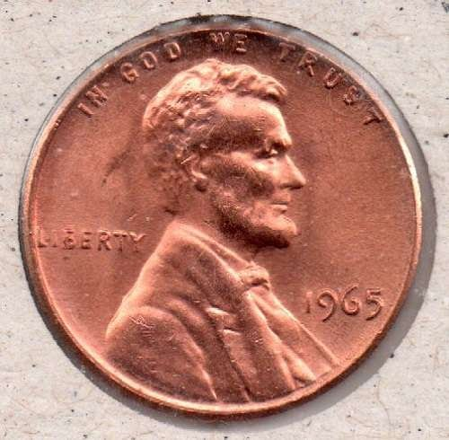 1965p Lincoln Memorial Penny ??DS?? #6