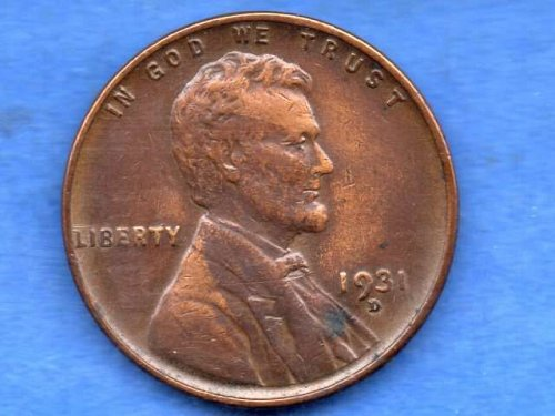 1931-D Lincoln Head Wheat Penny Genuine US Coin Cent V Nice  #3