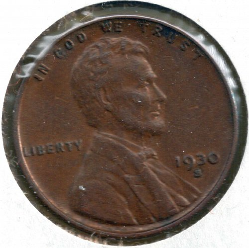 1930 S Lincoln Wheat Cent