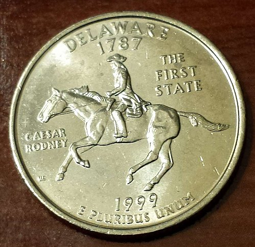 1999-P Delaware State State Quarter - From US Mint Bag! (5313)
