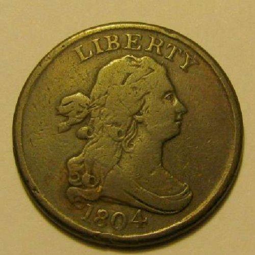 1804 Draped Bust half cent C-1, R-4,Rev.  of 1803 1st