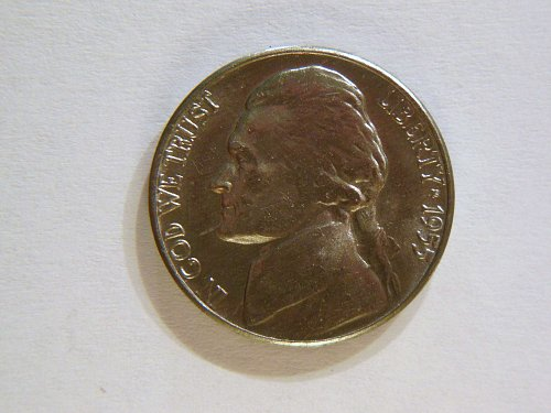 1955-D BU/MS Gem Jefferson Nickel,  (still in original cello from 1955)