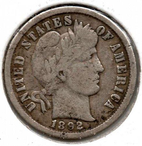 1892 P Barber Dime