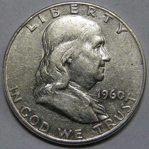 1960 D Franklin Half Dollar #1