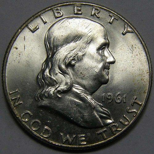 1961 D Franklin Half Dollar #2