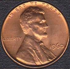 1960 P Lincoln Memorial Cent  Large Date
