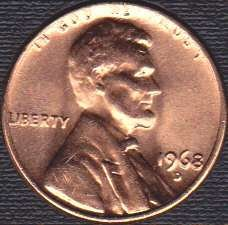 1968 D Lincoln Memorial Cent