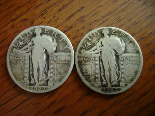 1927-S & 1927-D Standing Liberty Quarters Free Shipping