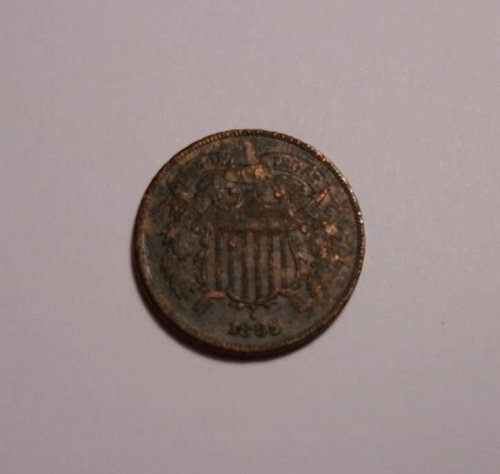 1865 Two Cent Piece for Sale