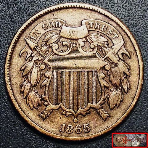 1865 Two Cent Penny