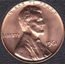 1961 P Lincoln Memorial Cent
