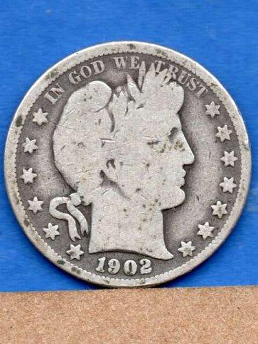 1902 O Silver Barber Head Half Dollar Genuine Natural US Coin