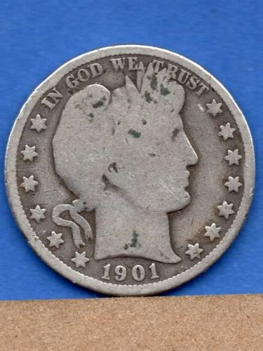 1901 O Silver Barber Head Half DollarNatural US Coin