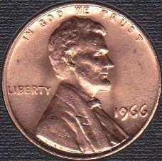 1966 P Lincoln Memorial Cent
