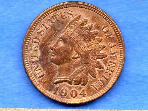 1904 Indian Head Penny Genuine US Coin Eye catching