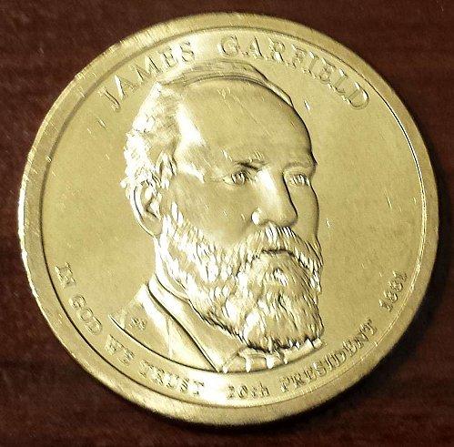 2011-P $1 James Garfield Presidential (Golden) Dollar (5358)