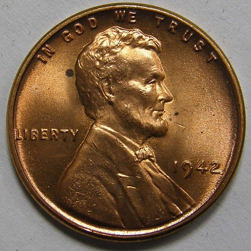 1942 P Lincoln Wheat Cent #2